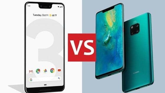 Google Pixel 3 XL   علیه Huawei Mate 20 Pro